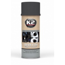 K2 COLOR FLEX CZARNY MAT 400 ML - GUMA W SPRAYU DO FELG ALU - SUPER EFEKT !